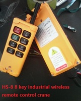 HS 8 8 keys industrial remote controller switch 1 transmitter 1 receiver Crane