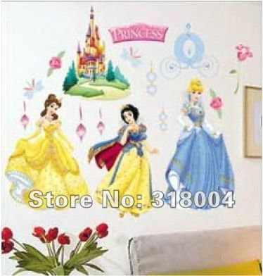 Gorgeous Princess christmas decoration cartoon wall sticker wall ...