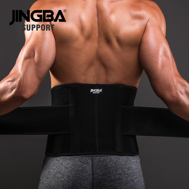 JINGBA SUPPORT Sports Safety fitness belt back waist support sweat belt waist trainer trimmer musculation abdominale adjustable 2