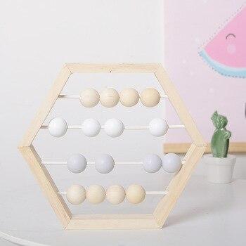 北欧スタイル保育園天然木製そろばんビーズクラフト赤ちゃんラーニング教育玩具スカンジナビアスタイルベビールームのインテリア