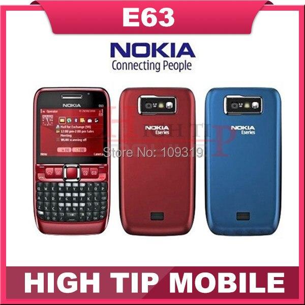 E63 Nokia бренд открыл сотовый телефон 3 G wi-fi 2 mp qwerty-клавиатура отремонтированный