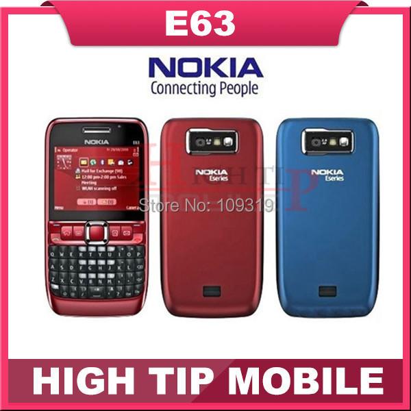 Marca Nokia E63 abrió el teléfono celular Original 3 G WIFI 2MP teclado QWERTY del envío gratis 1 year garantía reformado