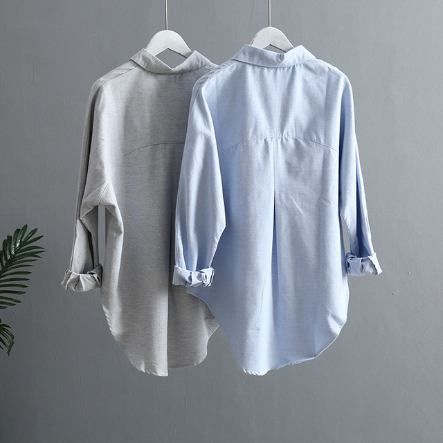 2019 Spring Women Summer Blouse Korean Long Sleeve Womens Tops And Blouses Vintage Women Shirts Blusas Roupa Feminina Tops 3
