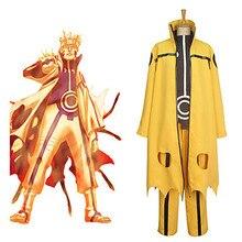 купить Anime Uzumaki Naruto Kyuubi Cloak Cosplay Costume Full Set по цене 6989.23 рублей