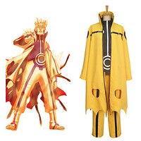 Anime Uzumaki Naruto Kyuubi Cloak Cosplay Costume Full Set