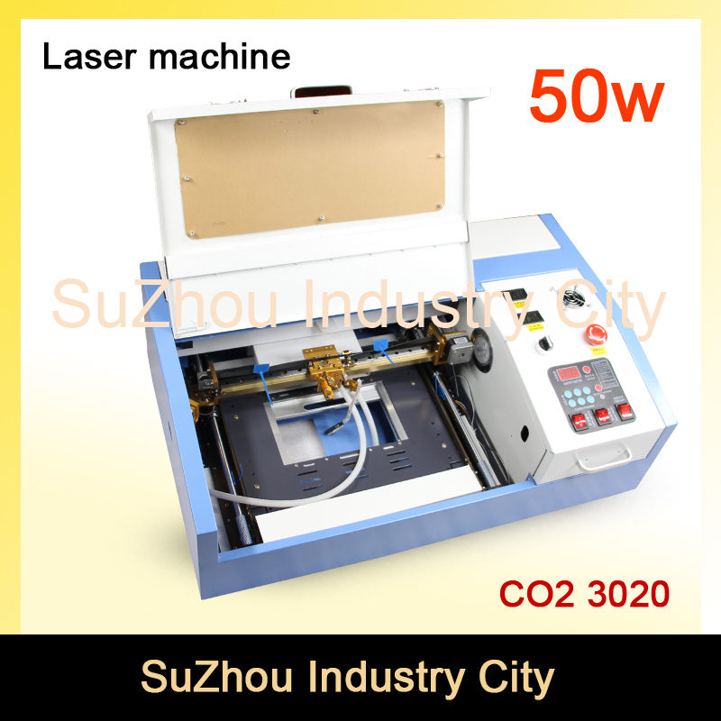 High Quality ! 110/220V 50W 200*300mm Mini CO2 Laser Engraver Engraving Cutting Machine 3020 Laser with USB Sport co2 laser machine with usb sport 110 220v 40w 300 200mm mini co2 laser engraver engraving cutting machine 3020 laser