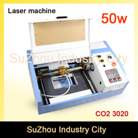 High Quality ! 110/220V 50W 200*300mm Mini CO2 Laser Engraver Engraving Cutting Machine 3020 Laser with USB Sport