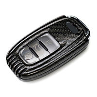 3 Buttons Car Smart Remote Key Fob Shell Case Key Holder Protector Real Carbon Fiber Fit For Audi A3 A4 A5 A6 A8 S4 S5 S6 Q7 R8