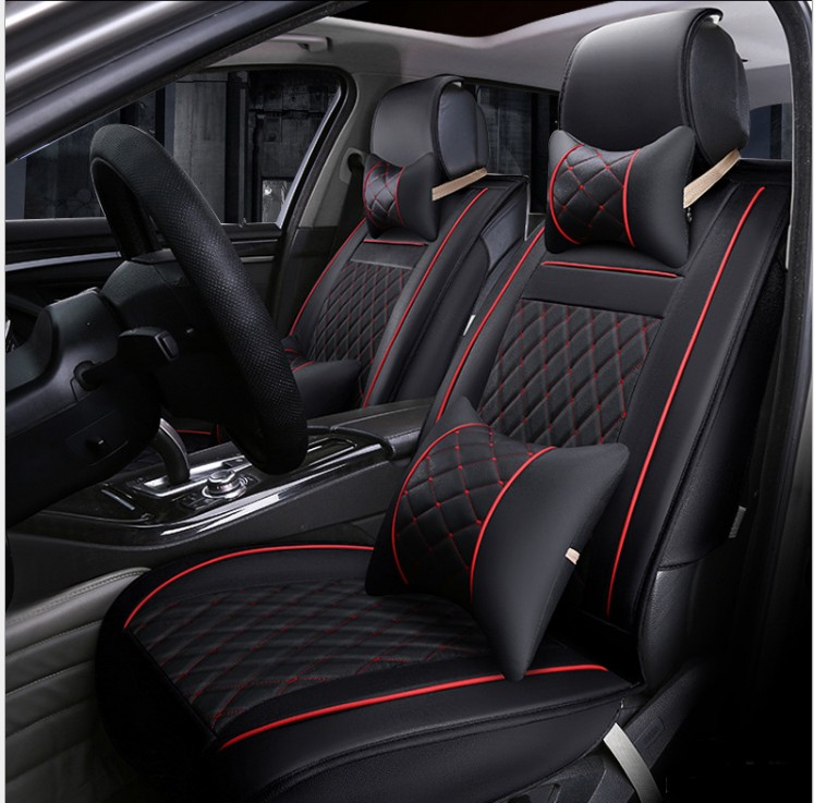Decorative Car Seat Covers Leather Cushion Cover Automobile Interior Accessories Protection Styling Universal Black In Automobiles From