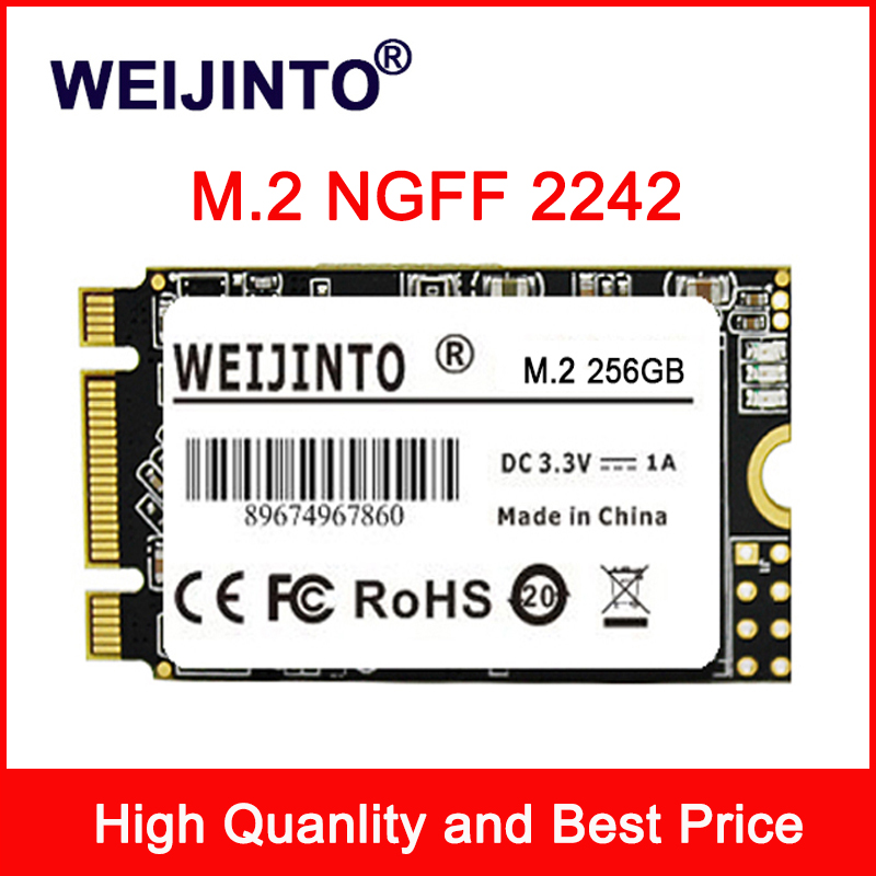WEIJINTO m.2 SSD 2242 128GB 256gb 512gb 120GB 240GB 1TB HDD 2242 milímetros NGFF SSD 360GB M2 Disco Rígido para laptop
