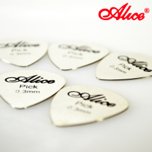1 piece Alice Stainless Steel Guitar Picks Acoustic Electric Bass Rock Pick Durable Mental Thin Mediator Guitarra 0.3mm