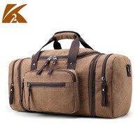 KVKY Men Travel Bags Hand Luggage Large Travel Duffle Bags Large Capacity Handbag Canvas Multifunctional Business