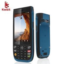 """기존 kcosit k85 ip68 견고한 방수 전화 안드로이드 5.1 qualcomm 쿼드 코어 4. """"러시아어 키보드 2d 스캐너 nfc gps"""