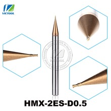 2PCS/Lot HMX-2ES-D0.5 Cemented Carbide 2-Flute Flattened End Mills Cutter End Mills Straight Shank Tiny Diameter Cutting Tools