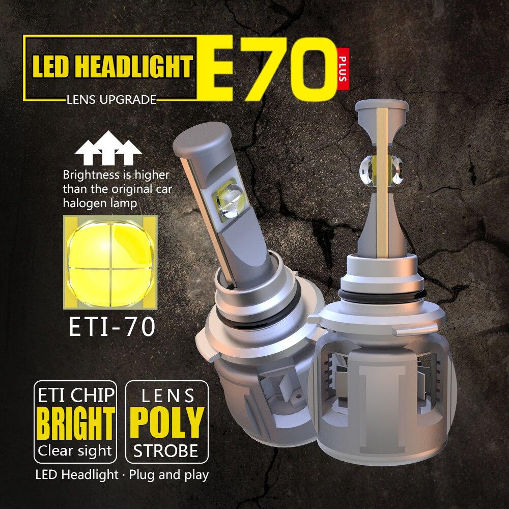 MINI 9012 6000K White 55W 8000LM HIR2 CREE LED Headlight Bulbs Kit High Low Beam