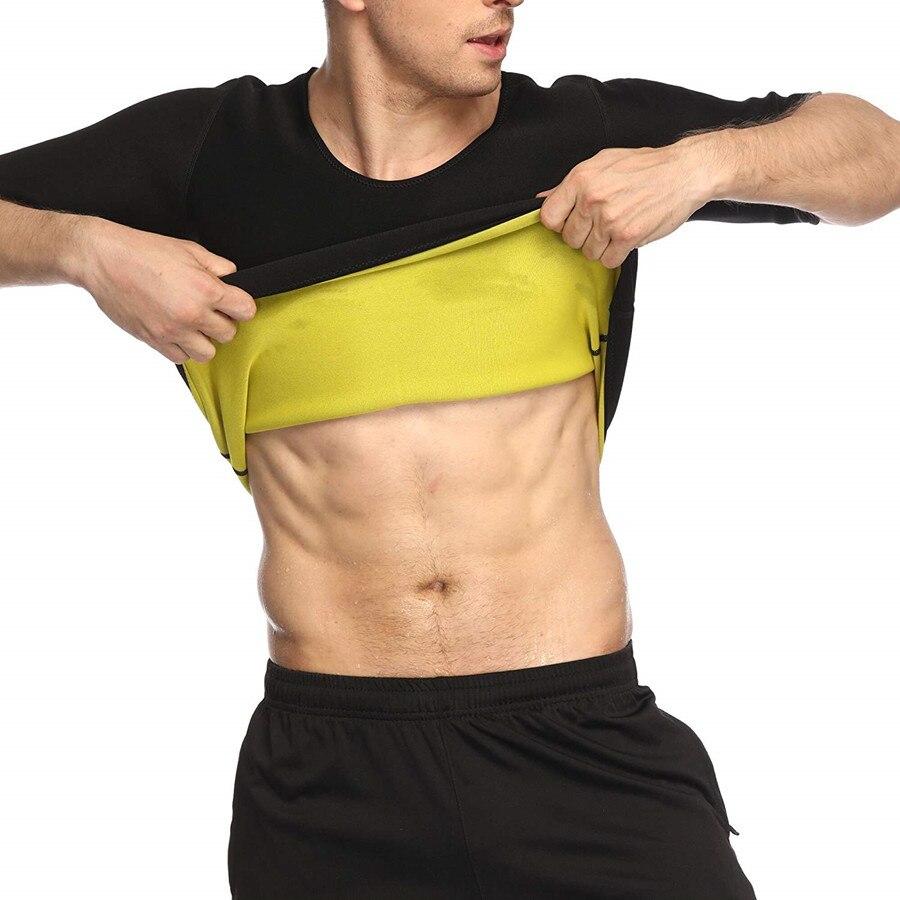 Neoprene Man Weight Loss Slimming Short Sleeves Thermo Sweat Sports Shirt