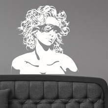 Beautiful Woman Face Wall Sticker Sexy Pretty Girl Vinyl Decal Glamour Fashion Art Decorations Hair Beauty Salon Room Decor SL36