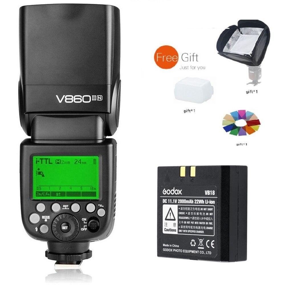 Godox VING V860II N 2.4G TTL batterie li-on Flash Flash Speedlite pour Nikon D800 D700 D7100 D7000 D5200 D5100 D5000 D300 D300S