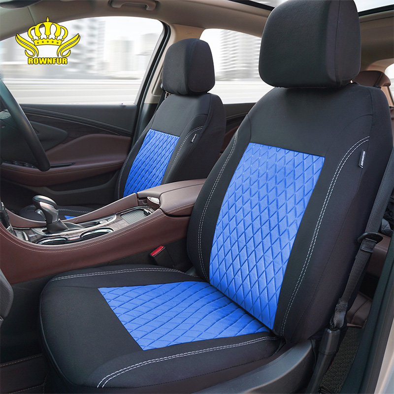 ROWNFUR Polyester Car Seat Cover Universal Fit Most Cars Seat Protector Four Seasons Car Covers For Seat Interior Styling 1 Set-in Automobiles Seat Covers from Automobiles & Motorcycles