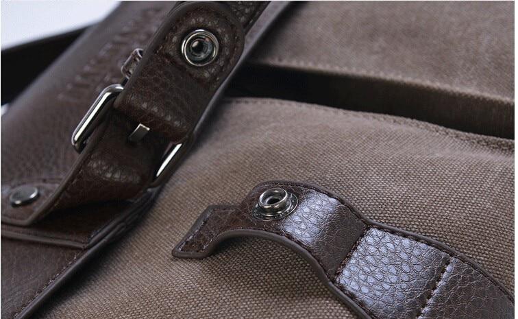 Novo briefcase britânico retro masculino mensageiro sacos