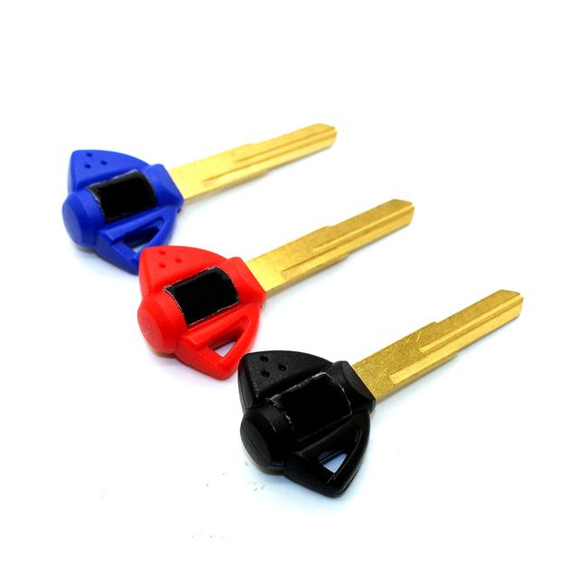 Motorcycle keys Key rings Embryo Uncut Keyring FOR Suzuki GSXR 400/600/750/1000/1300 K1 K2 K3 K4 K5 K6 K7 K8 K9 BANDIT HUYABUSA