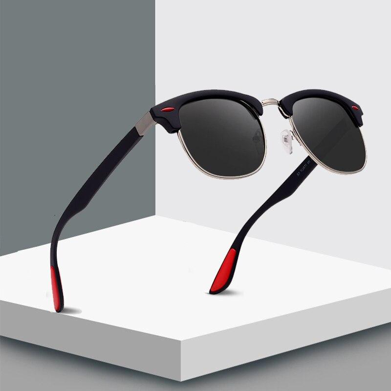 2019 New Fashion Semi Rimless Polarized Sunglasses Men Women Brand Designer Half Frame Sun Glasses Classic Oculos De Sol UV400