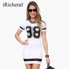 White Dress Summer O-neck Short Sleeve Tshirt Dresses Women Figure Printed Fashion Robe Femme Wrap Vestidos Plus Size Hot Sale