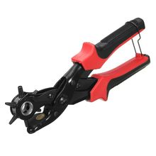 Multifunction Portable Leather Punch Pliers Hand Belt Hole Punch Manual Holes Belt Drilling Machine With Screwdriver(China)
