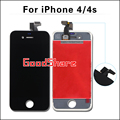 Конкурентоспособная AAA Для iphone 4/4s Экран Ассамблея Сенсорный Дигитайзер ЖК-Дисплей для iphone4 Рамки Pantalla Замена Черный/Белый