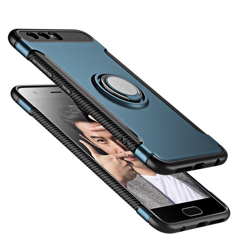Для Huawei Honor 9 honor9 stf-al00 чехол Гибридный ТПУ PC Панцири Футляр Защитная крышка телефона с подставкой держатель дело Капа