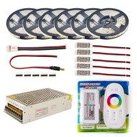 LED Strip set 5m 10m 20m 30m 12V RGB RGBW Waterproof 5050 Flexible 300LED strip IP65 diode tape LED Rope Ribbons Amplifier Kit
