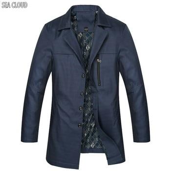 82 Free shipping spring & autumn men clothing Plus size long-sleeve male trench Turn-down Collar cotton Khaki coat L-7XL