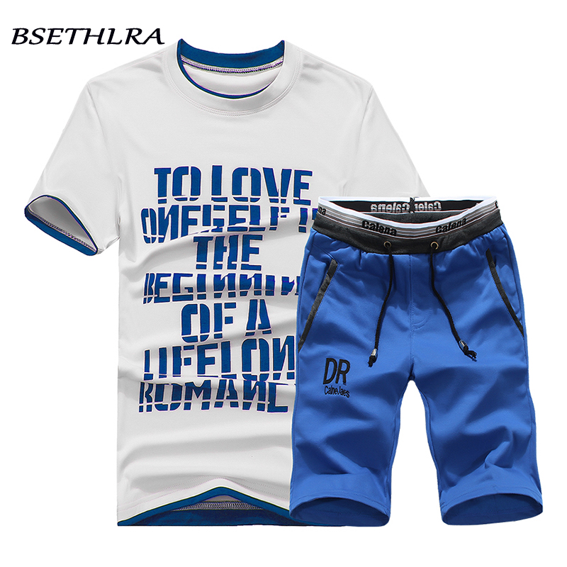 BSETHLRA Men T-Shirt Short-Sleeve Casual-Set Comfortable Hot-Sale Cotton Summer Brand-New