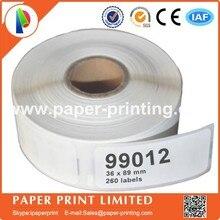 100 x Rolls Dymo Etichette Compatibile 99012 Dymo 99012 Etichette etiketten