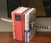 Special Military Book Bookends Creative Japanese Samurai Sword Practical Magnetic Bookends
