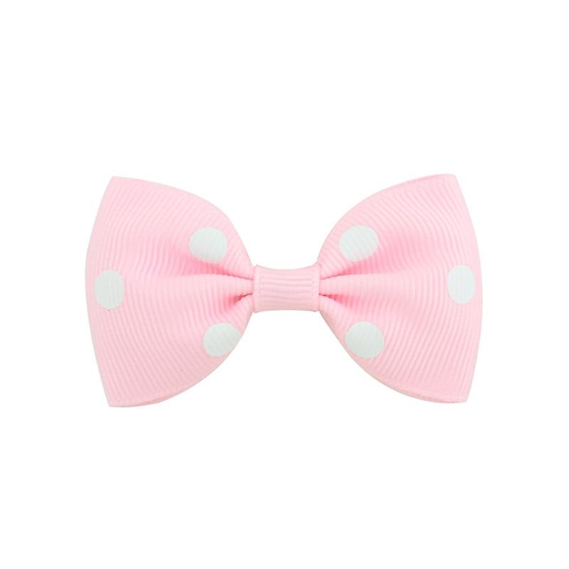 US $0 79 20% OFF Baby Kids Dot Grosgrain Ribbon Handmade Bows Tie Pins DIY  Bowknots Girls Hair Clips Hairpins New Born Hairgrips Hair Accessories-in