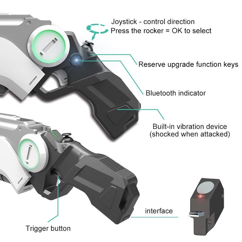 Pistolet AR pistolet pneumatique enfants jouets pistolet Airsoft armes Bluetooth support de téléphone portable multijoueur bataille télédétection jeu - 5