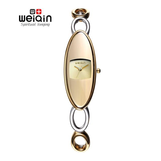 2017 Hot! WEIQIN Марка Женщины Часы Мода Серебряный Полые Браслет Часы Дамы Qaurtz часы Водостойкой relogio feminino