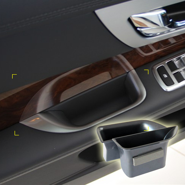 2 Pcs/lot Car Organizer for Jaguar XF 2009-2015 Door Handle Storage Box Container Holder Tray Accessories Car Styling
