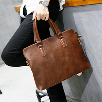 Fashion Laptop Bag For Macbook Air 13 Inch Leather Briefcase Computer Bag Tote Bag Laptop Backpack