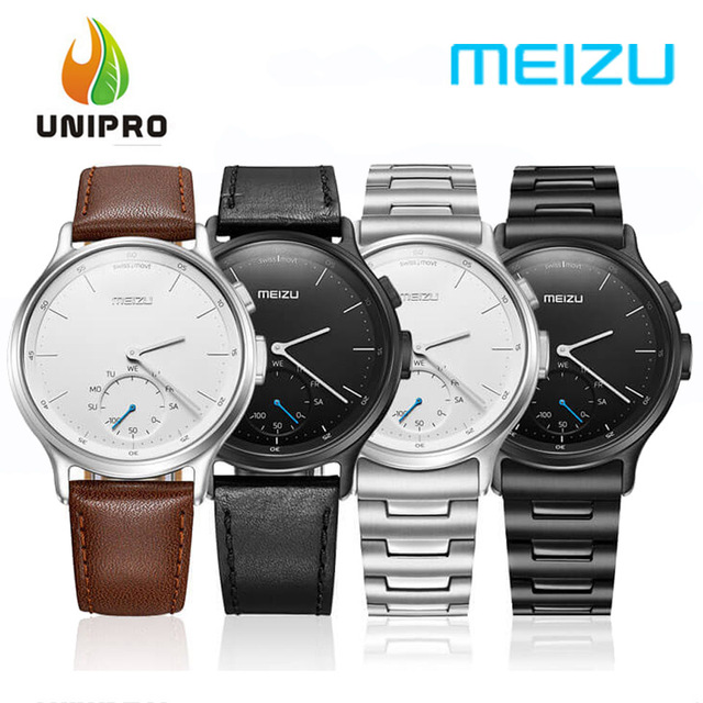 Meizu MIX Smart Watch Analogue Display Bluetooth Pedometer Calorie Consumption Call SMS Reminder with Solid Steel Strap