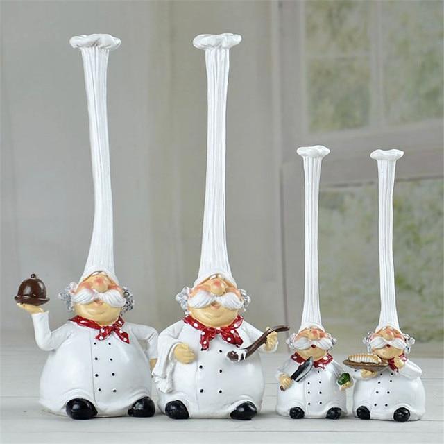 American Modern Pastoral Creative Chef Cartoon Figurines Decoration Western Kitchen Accessories Cake Bakery Home Decor
