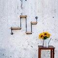 País da américa ferro forjado indústria de móveis tubo de Retro criativo pendurado na parede prateleiras de parede Shelving-FJ-ZN1Y-007A0