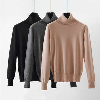 2018 cashmere Autumn spring loose thin knit Sweater Pullovers Women high neck casual sweater female big size S-XL sweater Jumper