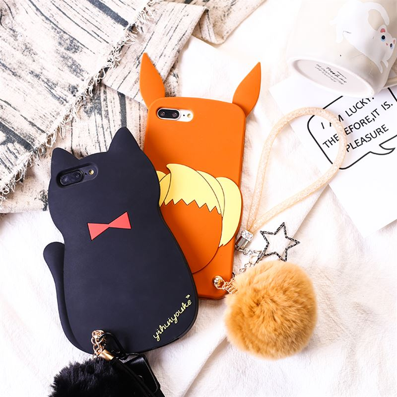 for-iphone-xs-x-font-b-pokemons-b-font-eevee-cat-kitten-fur-ball-pendant-strap-chain-soft-silicone-case-for-iphone-8-6-6s-7-plus