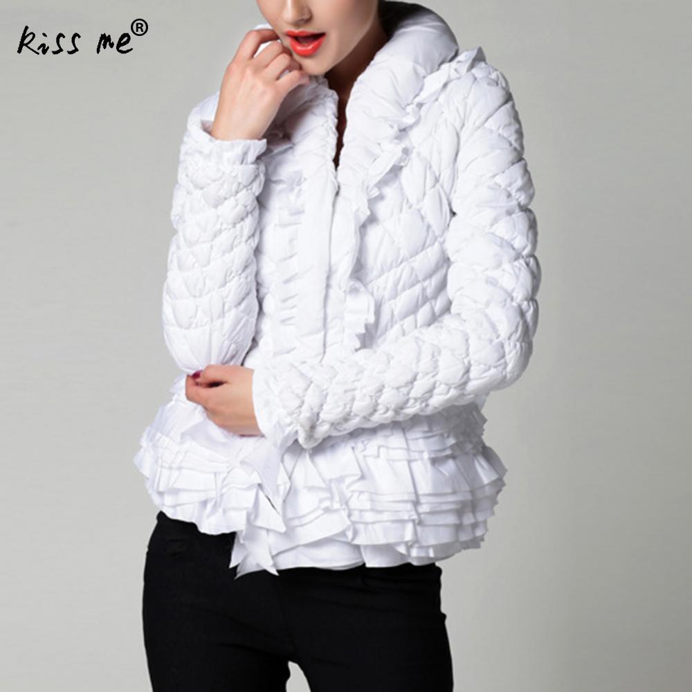 doudoune femme hiver women winter jacket parka mujer Fashion Slim Women Parkas Thicken Warm Outerwear Zipper Jackets Black White