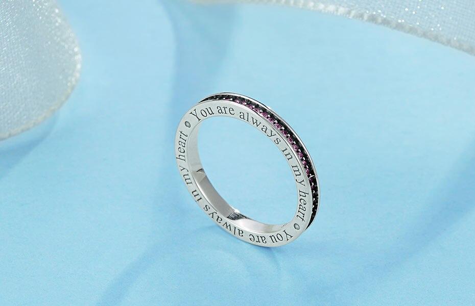 662b4462ad4c KALETINE hombres auténtico anillo de piedras CZ coloridas para mujer  anillos de plata de ley 925 anillos de letras anillos de plata S925 regalos  de joyería ...