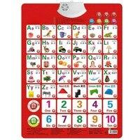 Обучайте цифры и алфавит, карточная книга, детская звуковая настенная диаграмма, раннее образование, образование, детство, электронная игру...