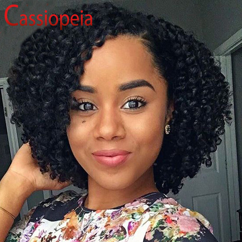 big curls hair style bouncy curly style lace human hair wigs bob 7867