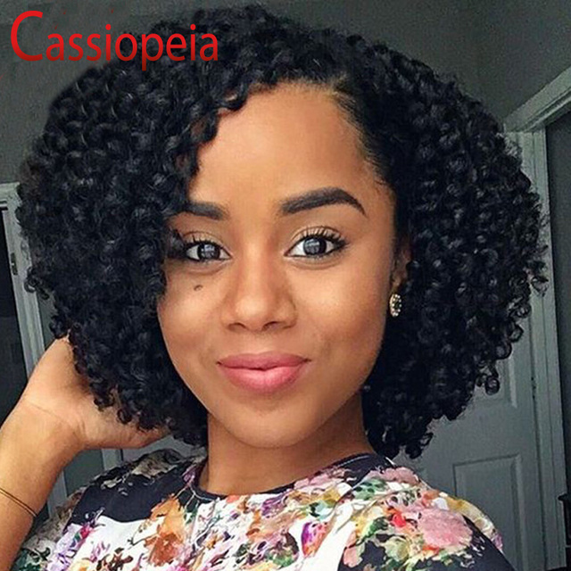 Bouncy Curly Style Full Lace Human Hair Wigs Bob Brazilian Curly Lace Front  Wigs With Baby Hair Full Lace Wigs For Black Women e37c66221